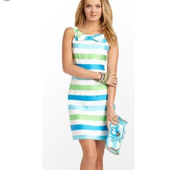 782e9fed2712 Lilly Pulitzer Dresses | Cord Organza Stripes Henley Dress | Poshmark